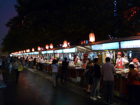 Imagini Beijing: piata de mancare exotica China