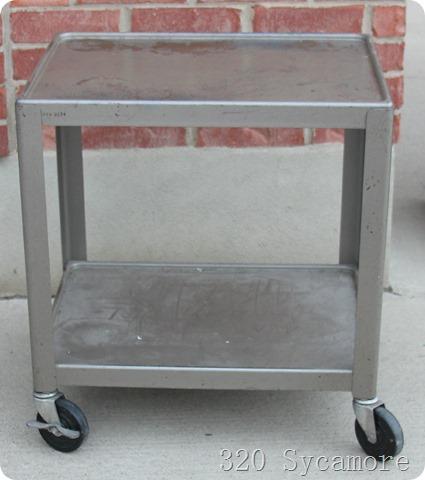 metal school cart