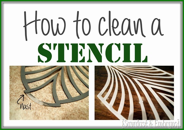How to clean a stencil (Sawdust and Embryos)