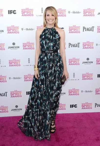 Leslie Bibb attends the 2013 Film Independent Spirit Awards
