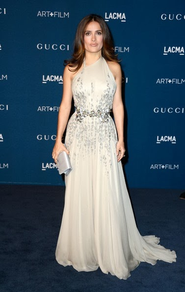 Salma Hayek arrives at the LACMA 2013 Art   Film Gala