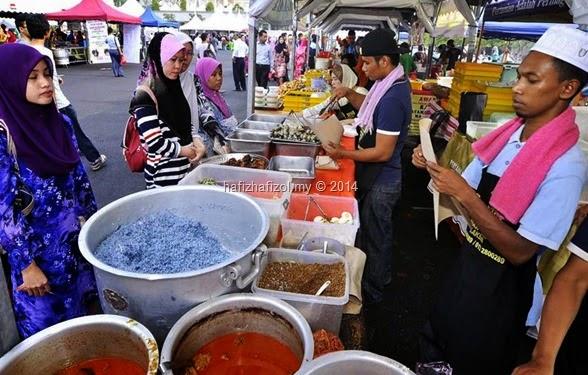 nasi kerabu bazar ramadhan putrajaya