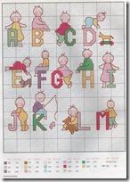 Abecedario punto de cruz infantil