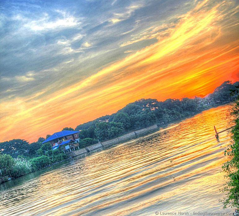 Sunset in Ayutthaya from Banbua House Two 2
