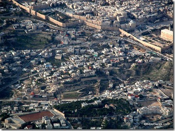 City of David aerial from east, tb010703201