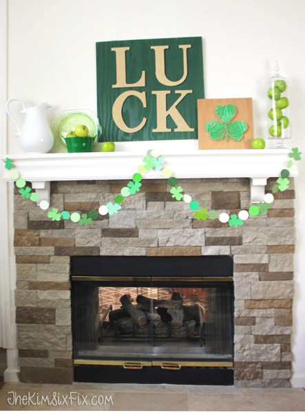 St Patricks Day Mantel