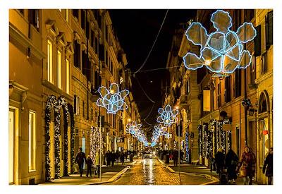 Rom: Geocaching über Silvester - Weihnachtsschmuck in den Strassen