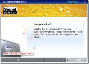 Sound Blaster X-Fi Pro Surround 5 1 Pro USB running on