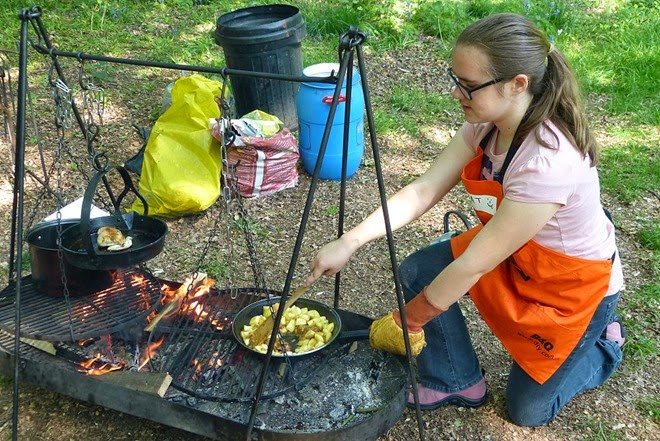 Scouts cooking competition
