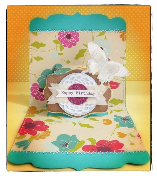 cafe creativo - Anna Drai - big shot sizzix - card - pop up