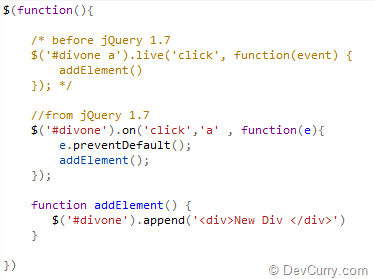 jquery-on-vs-live