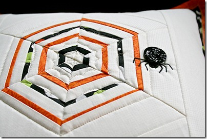 2 string spiderweb quilting