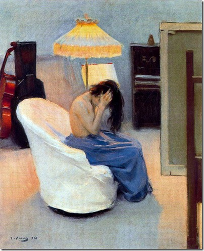 ramon casas i carbo_Entre dos luces_1896