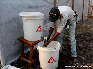 Ce qu'il faut faire pour lutter contre le choléra d'après le MSF. Radio Okapi/ Ph. John Bompengo