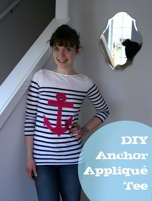 DIY Anchor applique tee tutorial-026