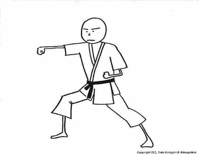 Dibujos De Karatecas Para Pintar