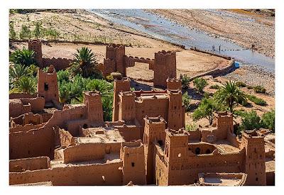 Aït-Ben-Haddou - Blick von oben auf die Altstadt