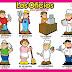 Láminas de trabajo Oficios y profesiones español e inglés