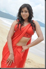 Tamil Actress Rashmi Gautam Hot in saree