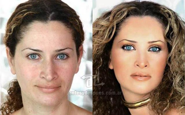 Antes y despues del maquillaje 12