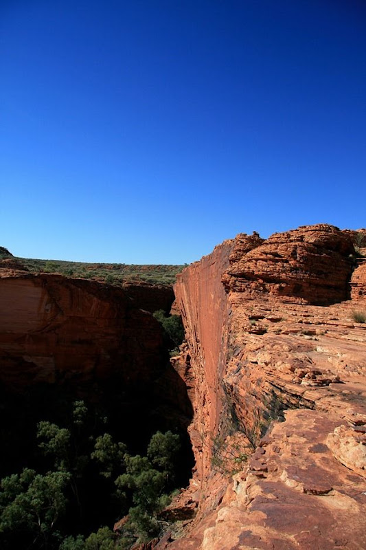 Cliff walls canyon rock formation Kings Canyon outback Australia 4