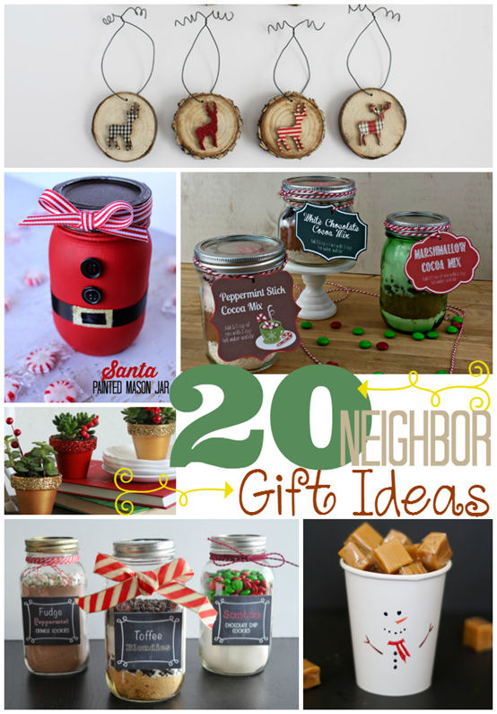 20 Neighbor Gift Ideas at GingerSnapCrafts.com #linkparty #features