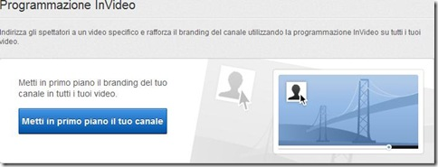 YouTube Programmazione InVideo