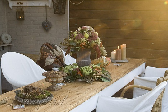 Fall Outside Decoration Garden Table 2