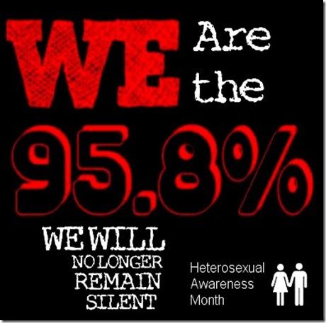 Stand up straight heterosexual awareness month