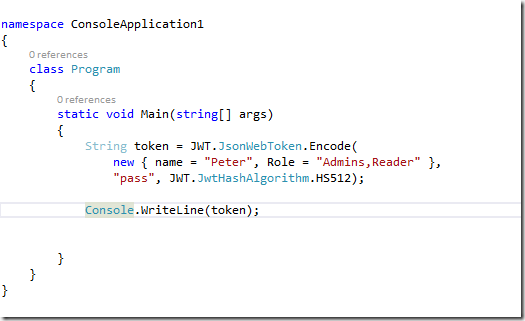 My Note on Solutions : JWT token, signed in C#, and Decode in JS