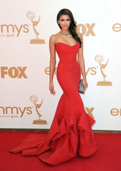 Nina Dobrev arrives at the 63rd Annual Primetime Emmy Awards