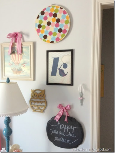 EH 3 & Life Love Larson: Embroidery Hoop framed fabric