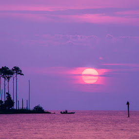 Fishing Early One Morning by John Goff - Landscapes Sunsets & Sunrises ( oriental, sunrise )