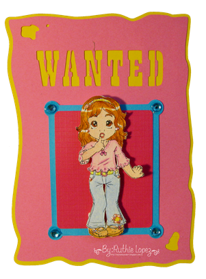 Lili's Secret - Inky Impressions - Wanted Card - Silhouette Cameo -Ruthie Lopez DT