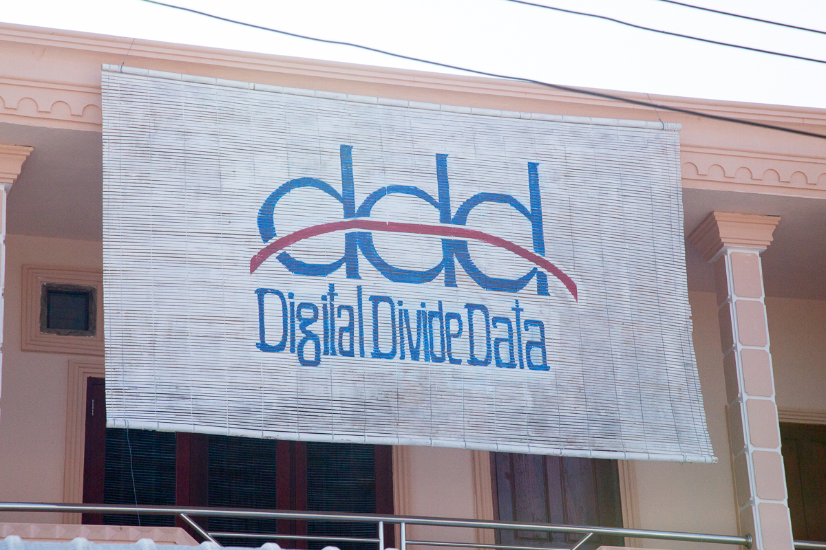 Digital Divide Data sign on office building