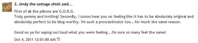 Comment Cindy