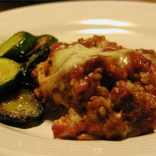 Ground Beef and Rice with Cheese.