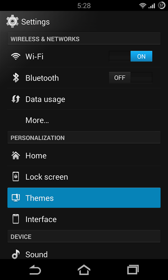 Flow Theme for CM10 - screenshot