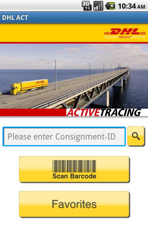DHL ACTIVETRACING - screenshot