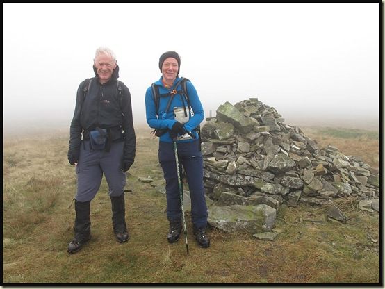 On the summit of Fountains Fell