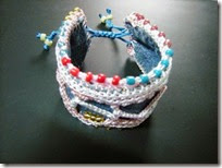 Recycle denim bracelet 01