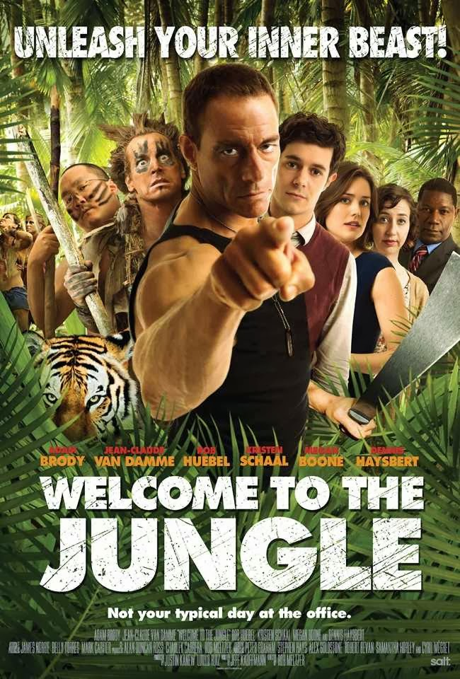 Jean-Claude Van Damme Fighting A Tiger - Welcome to the Jungle Trailer Review