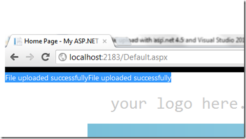 Multiple file upload with ASP.NET 4.5 and HTML5