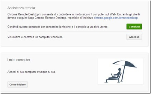Chrome Remote Desktop Assistenza remota
