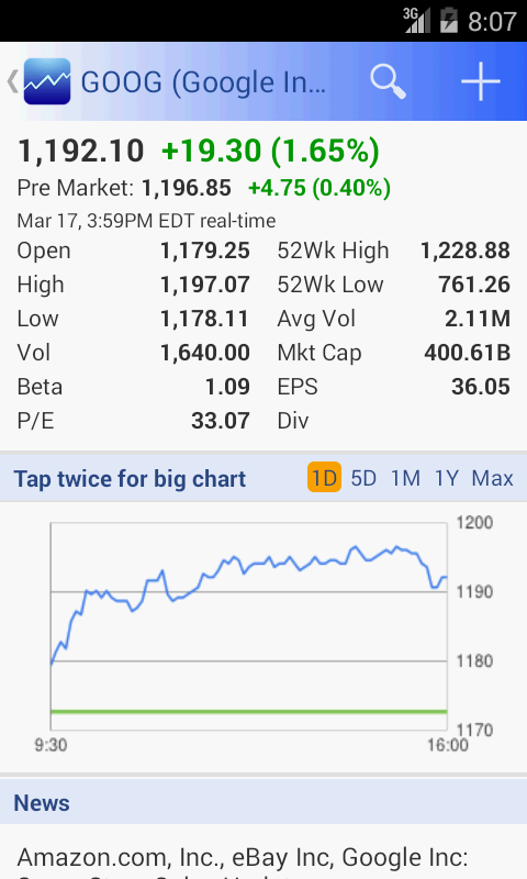 Google Stock Quotes Delectable Smart Stock  Stocks Quotes  Android Apps On Google Play