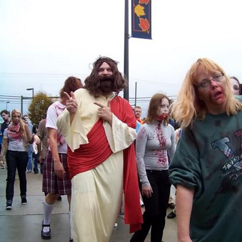 Disfraz divertido, Jesús de Nazaret y los zombies