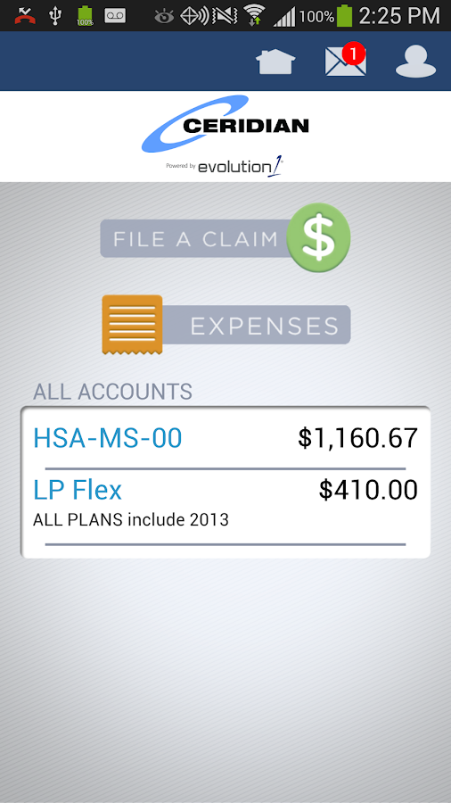 Ceridian Benefits Mobile - screenshot