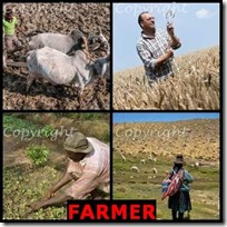 FARMER- 4 Pics 1 Word Answers 3 Letters