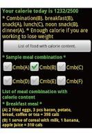 Screenshot of CalorieValueChecker