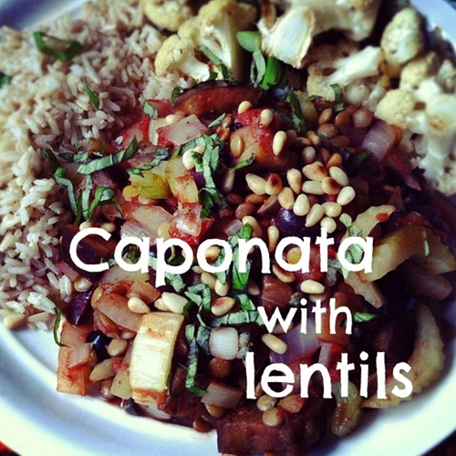 caponata with lentils